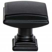 Tailored Traditional Knob (Matte Black) - 1 1/4""