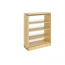 "9"" Base Filler Organizer, Wood W/Chrome"
