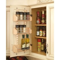 "15"" Adjustable Door Mount Spice Rack"