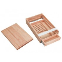 "17 1/2"" Wood Knife Holder/Cutting Board"