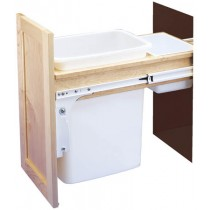 35 Qt. Top Mount Wood Pull-Out Waste Container