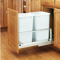 Double 27 Qt Waste Container