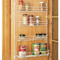 "13 5/8"" Door Mount Spice Rack (White Wire)"