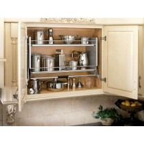 "32"" Pull Down Shelving System (Chrome)"