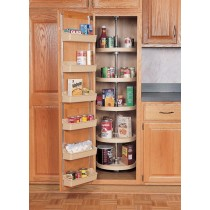 "18"" Full Circle Pantry Lazy Susan (Almond) - Five shelves w/ hardware"