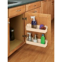 "13 3/4"" Two Shelf Door Storage Trays w/ Clips (Almond)"