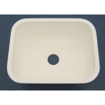 "23"" x 18"" Single Bowl Kitchen Sink - White"