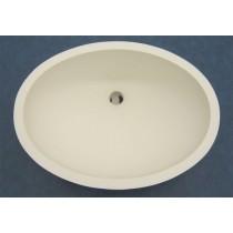 "19"" x 14"" Oval Vanity Sink w/Overflow - Off White"