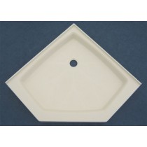"38"" x 38"" Shower Base (Neo Angle) - Cameo"