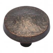 "Bedrock Knob (Dark Antique Copper) - 1-1/4"""