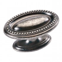 Altair Oval Knob (Black Nickel Vibed) - 1-3/4""