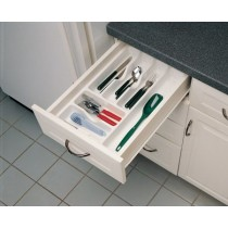 "14 1/4"" Cutlery Tray (White)"