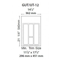 "14 1/4"" Utility Tray (Glossy White)"