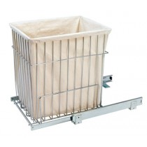 "14 3/4""W x 18""H Pull-Out Wire Hamper w/Liner"
