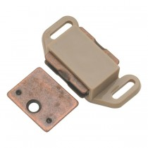 "Magnetic Catch (Tan Plastic) - 1 1/8"" x 2"""