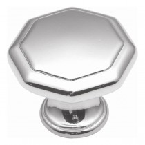 Conquest Octagonal Knob (Polished Chrome) - 1 1/4""