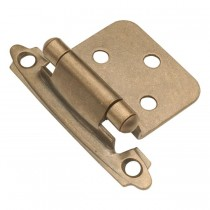Flush Self Closing Hinge (Antique Brass)