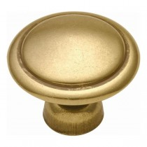 Conquest Ring Knob (Luster Brass) - 1 3/8""