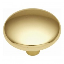 Convex Knob (Polished Brass) - 1 1/4""