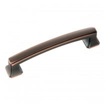 Bridges Pull (Oil Rubbed Bronze Highlighted) - 96mm