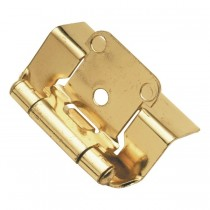 "Face Frame Hinge (Polished Brass) - 1/2"" Overlay"