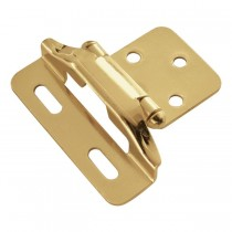 "Face Frame Hinge (Polished Brass) - 1/4"" Overlay"