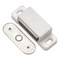 "Small Magnetic Catch (White) - 1/2"" x 1 3/4"""