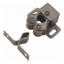 "Double Roller Catch (Statuary Bronze) - 1"" x 1 3/8"""