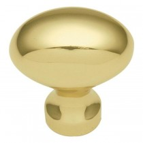 """Power Program Oval Knob (Polished Brass) - 1 1/4"""""""