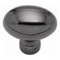 "Power Program Oval Knob (Black Nickel) - 1 1/2"""