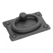 "Old Mission Ring Pull (Black Mist Antique) - 1 3/4"" x 2 3/4"""