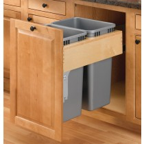 50 Qt. Double Top Mount Pullout Waste Container
