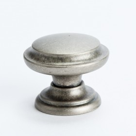 Euro Rustica Knob w/Ring (Rustic Nickel) - 35mm