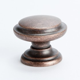 Euro Rustica Knob w/Ring (Rustic Copper) - 35mm