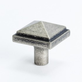 Rhapsody Square Knob (Weathered Nickel) - 1 3/16""