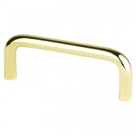 Zurich Wire Pull (Polished Brass) - 3""