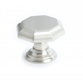 Euro Classica Octagonal Knob (Brushed Nickel) - 1 3/8""