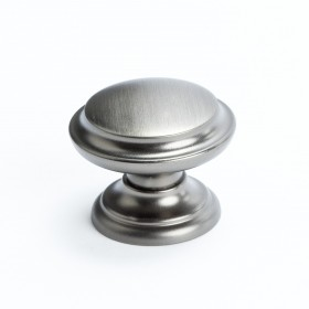 Euro Classica Outer Ring Knob (Brushed Tin) - 1 3/8""