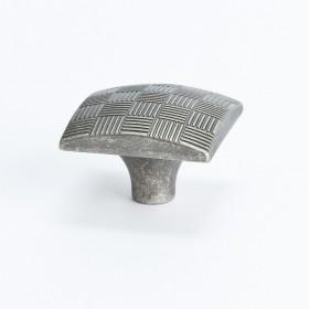 Virtuoso Square Knob (Rustic Tin) - 29mm