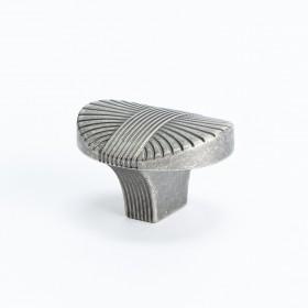 Opus Knob (Rustic Tin) - 30mm x 35mm