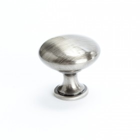 Euro Moderno Knob (Brushed Black Nickel) - 1 3/16""
