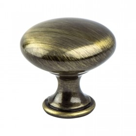 Euro Moderno Knob (Brushed Antique Brass) - 1 3/16""