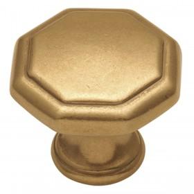"Conquest Knob (Lustre Brass) - 1-1/8"""