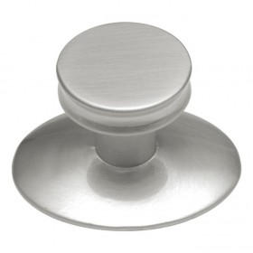 Metropolis Knob w/ Oval Base (Satin Nickel) - 1""