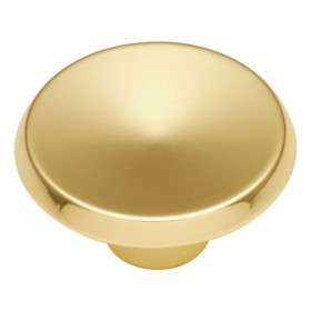 Metropolis Knob (Polished Brass) - 1 1/2""