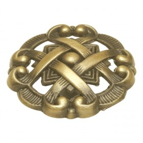 Cavalier Knob (Antique Brass) - 1 1/2""
