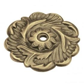 "Cavalier Backplate (Antique Brass) - 2 3/8"""