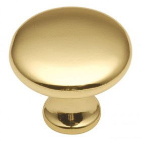 Conquest Knob (Polished Brass) - 1-1/8""