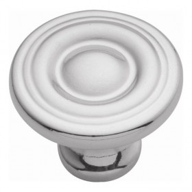 Conquest Spooled Knob (Polished Chrome) - 1 3/16""