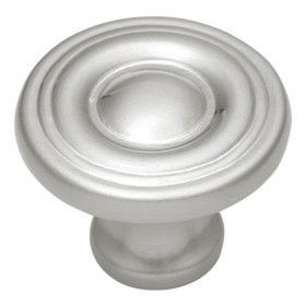 "Conquest Spooled Knob (Satin Nickel) - 1 3/16"""